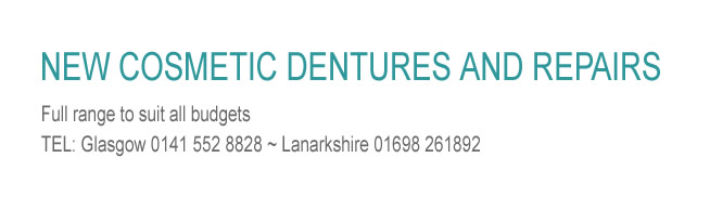 New Cosmetic Dentures and Repairs